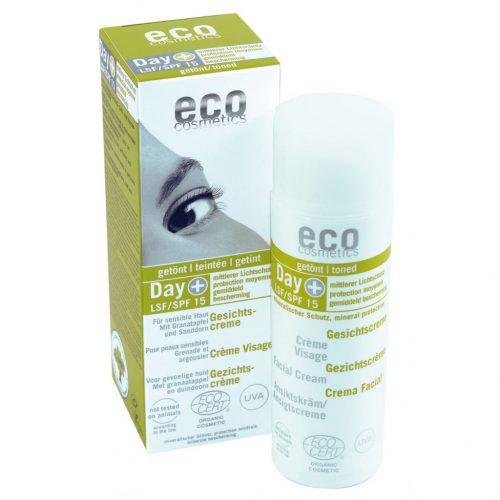 Creme de rosto hidratante com cor e SPF15, com romã e espinheiro amarelo, ideal para todos os tipos de pele.