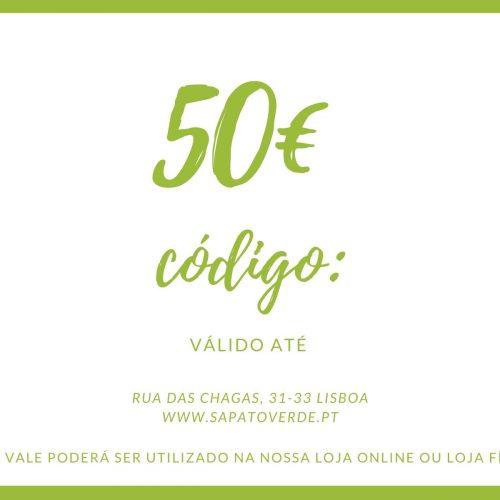 Poderá descontar um vale oferta numa próxima compra na nossa loja online ou na nossa loja física (em Lisboa).