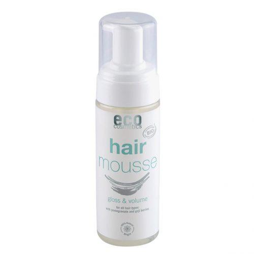 Com a espuma Eco Cosmetics o seu cabelo não fica crespo, mesmo nos dias mais húmidos. Protege o seu cabelo deixando-o mais brilhante.