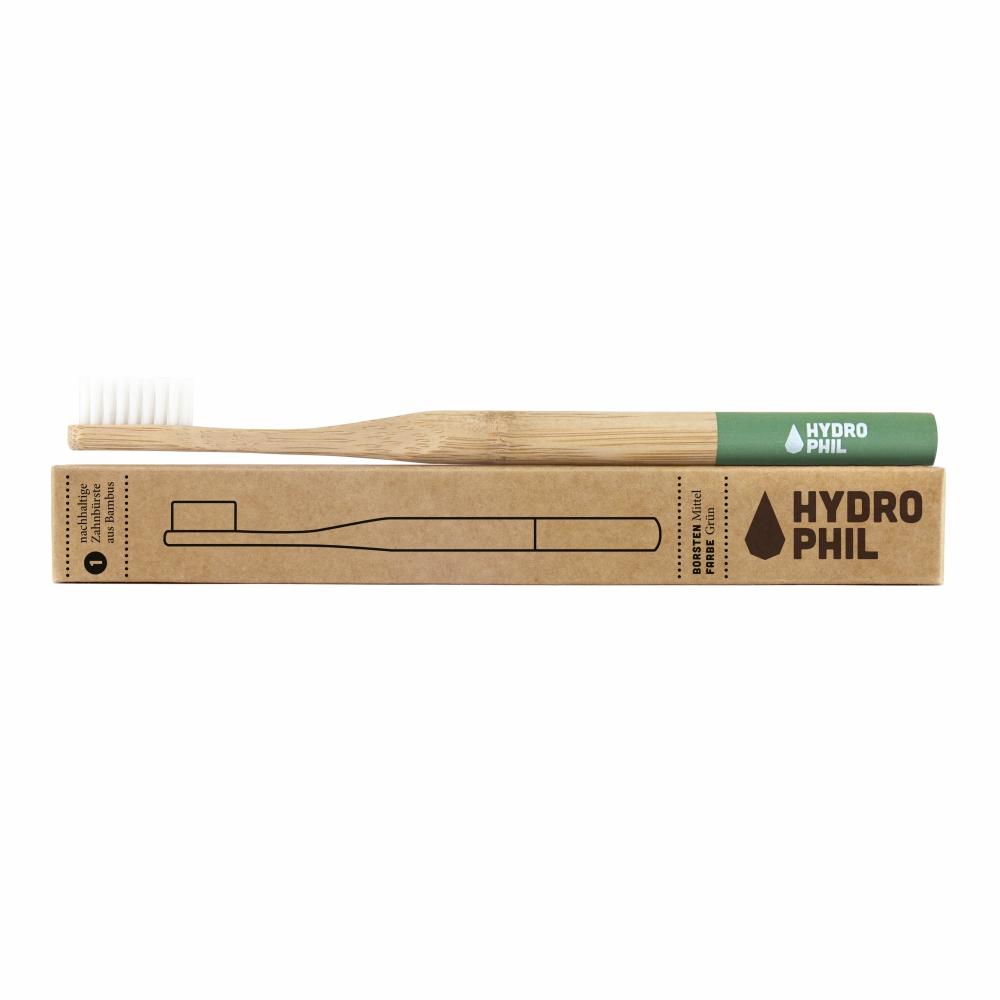 A escova de dentes sustentável Hydrophil, de bambu, não só têm um design atractivo, comotambém minimiza a pegada ecológica.