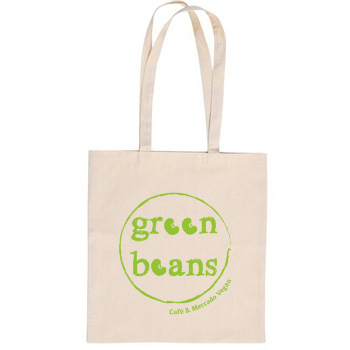 TOTE BAG NATURAL Green Beans