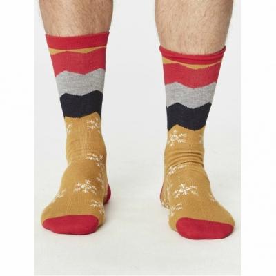 Meias spm278-snowflake-socks-mustard