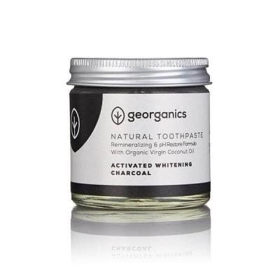Pasta de Dentes Branqueadora, Natural e Orgânica Georganics 60g – Carvão Vegetal Ativador
