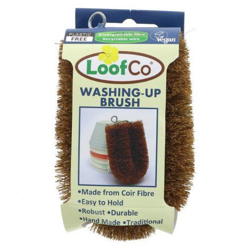Esfregão biodegradável para lavar a loiça, uma alternativa ecológica às esponjas e escovas de plástico. Produzida de forma sustentável no Sri Lanka.