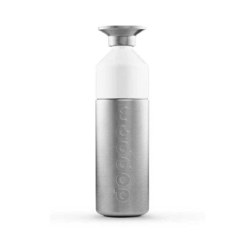 A garrafa Dopper de Aço Inoxidável tem a opção de ser uma garrafa ou uma garrafa com copo. Nenhuma garrafa Dopper tem BPA.