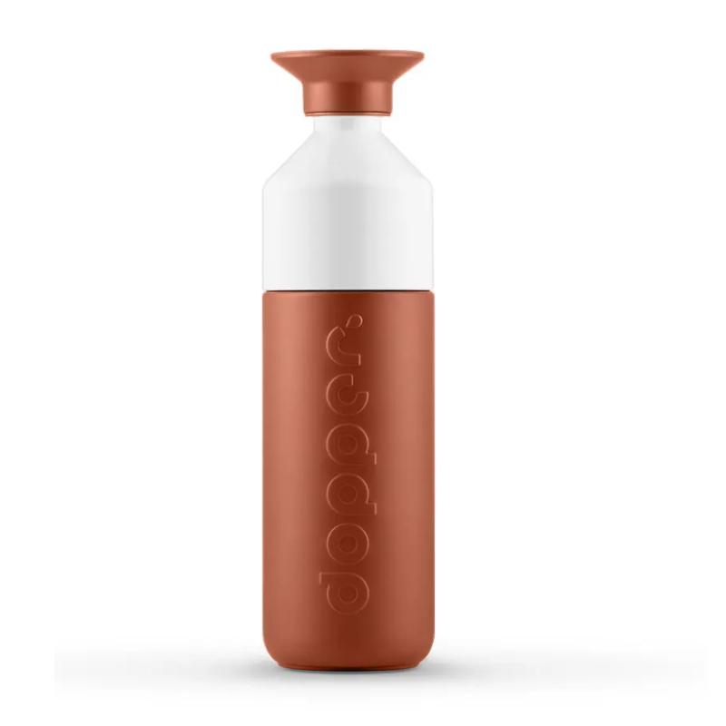 A garrafa termica, da Dopper, é uma poderosa aliada no combate à poluição do plástico e mantém a sua bebida quente ou fria.