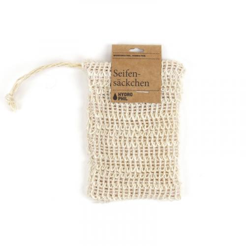 A bolsa juntamente com o sabonete irá criar umaespuma perfeitaA bolsa é feita de sisal, pelo que é um produto biodegradável.
