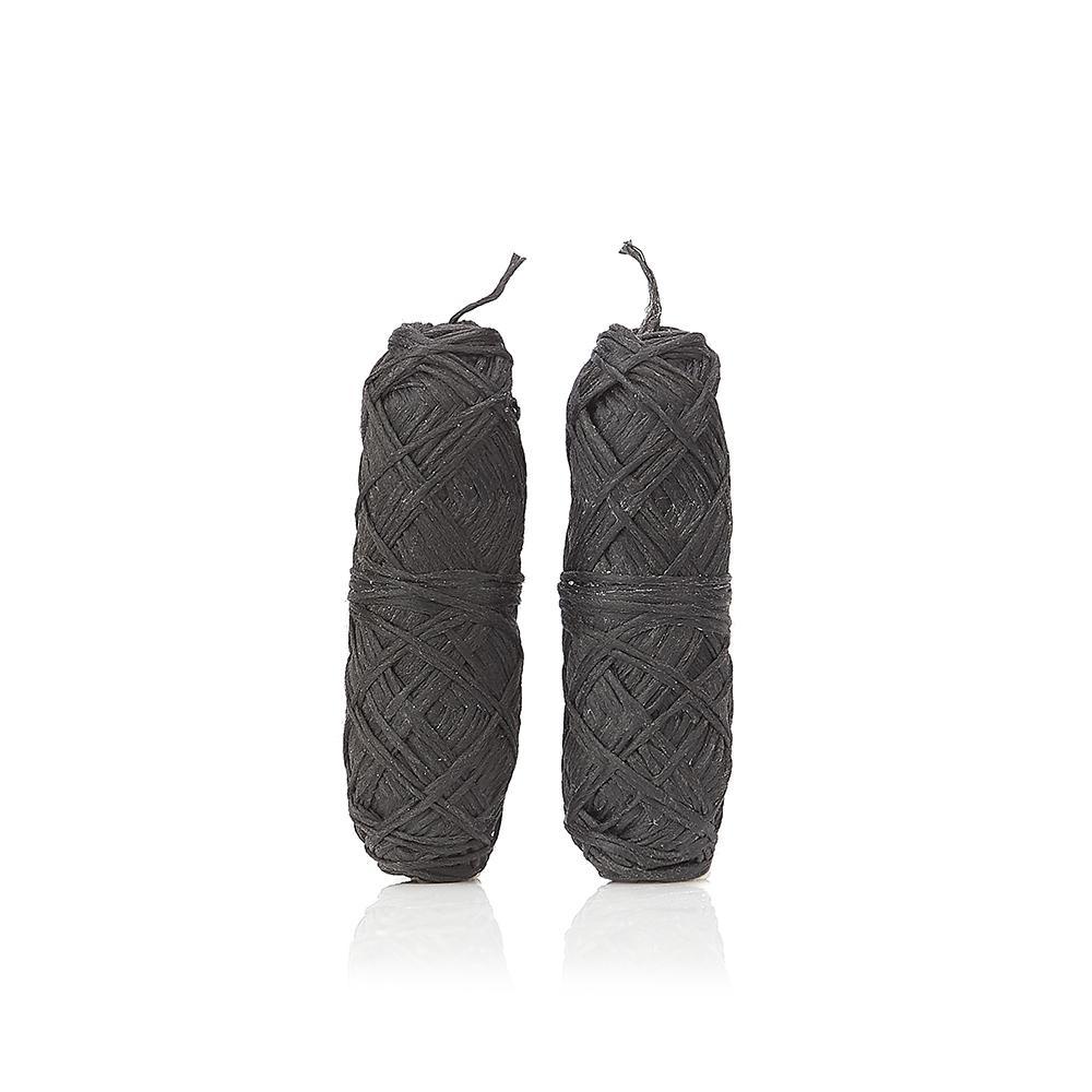 Fio dentário natural de carvão defibra de bambu 100% sustentável, cera de candelilla eóleo essencial de menta.Embalagem sem plástico!