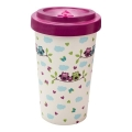 Pink Owls Bamboo Cup 2