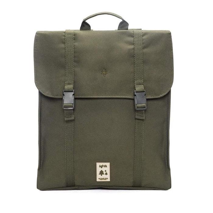 A mochila Handy vem com um sistema de fecho duplo de acesso ao compartimentoprincipal e uma bolsa interior acolchoada para um portátil