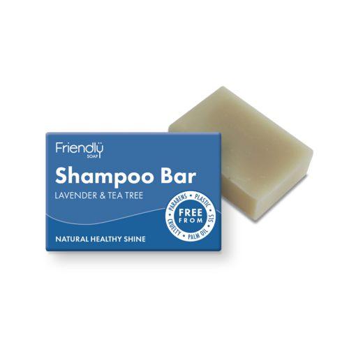 Champô em Barra de Árvore do Chá. Feito com óleo de rícinio rico em vitamina E. Esta barra de longa duração é ideal para todos os tipos de cabelo.