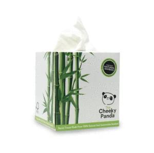 Uma caixa de lenços faciais luxuosamente macios! Cada caixa contém 56 lenços de bambu, de folha tripla. Embalagem sem plástico.