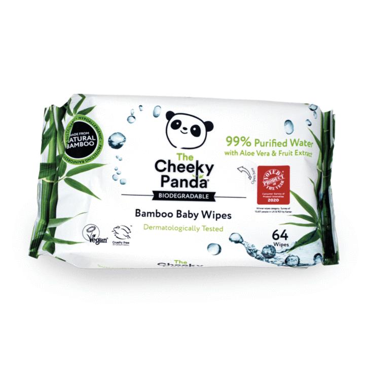 Estas toalhitas para bebé são 100% biodegradáveis, feitas a partir de fibra de bambu e humedecidas com 99% de água purificada.