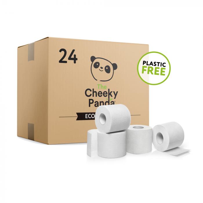 Cada pacote contém 24 rolos de papel higiénico de 200 folhas de papel higiénico de bambu, com folha tripla, super macias.