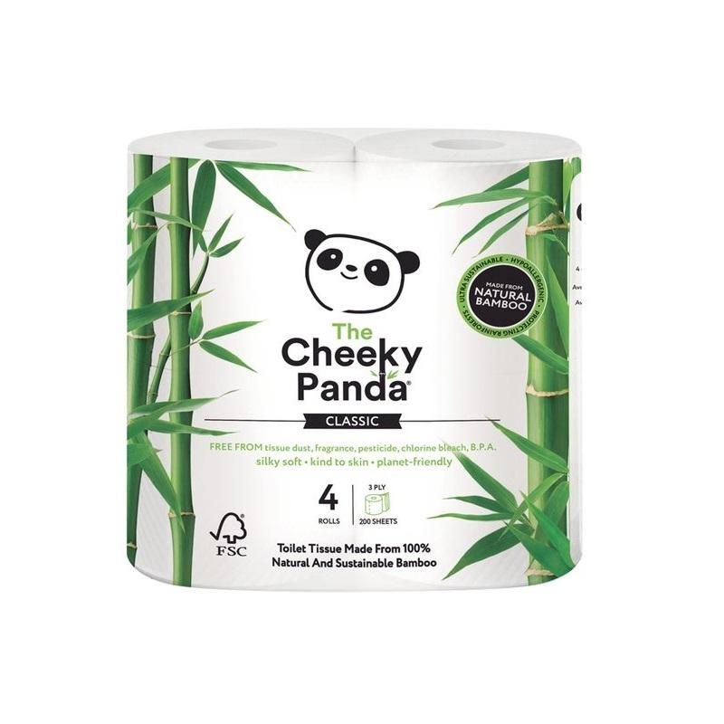 Cada pacote contém 4 rolos de papel higiénico de 200 folhas de papel higiénico de bambu, com folha tripla, super macias.