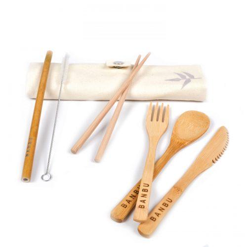 kit de takheres em bambu