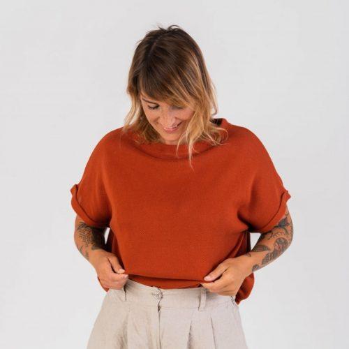 T-shirt em algodão feita em Portugal.