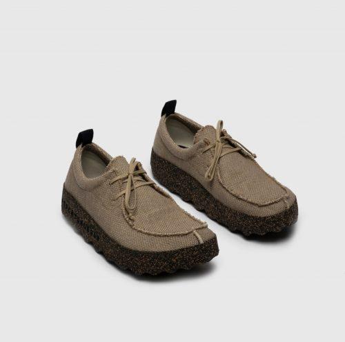 sapatos chat em tecido com sola em borracha natural e cortiça