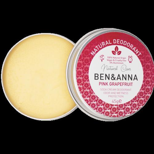 Os desodorizantes em creme Ben & Anna têm uma consistência cremosa que facilita a aplicação.