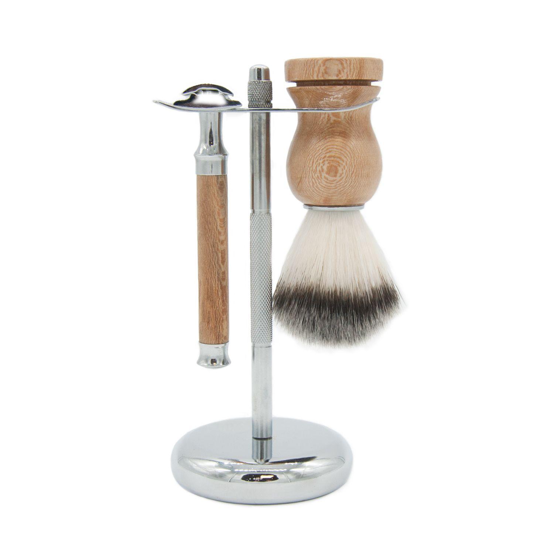 O kit para barbear da BANBU combina a sensação de um clássico de barbear com uma estética renovada!O kit inclui: pincel e máquina de barbear.