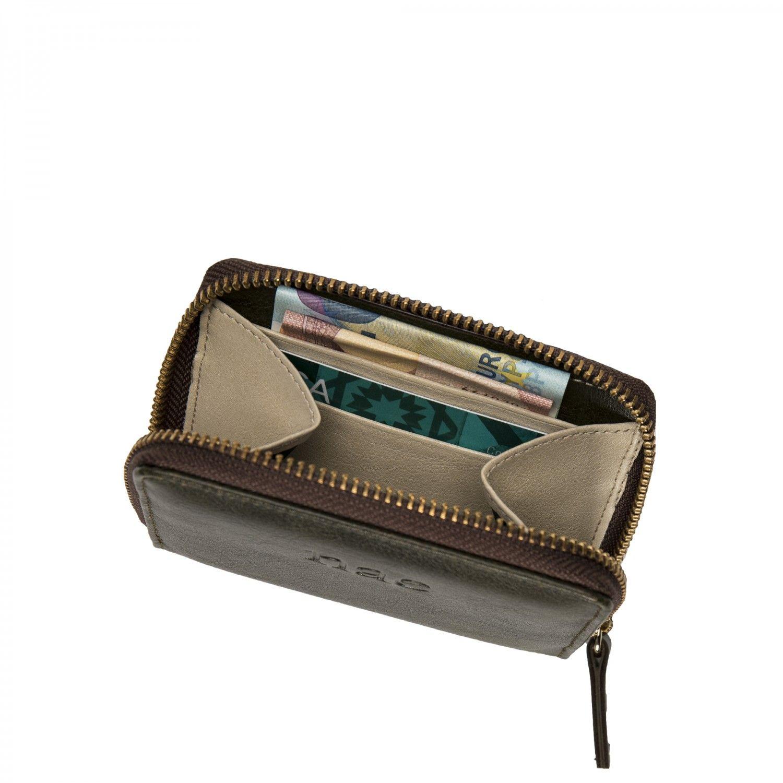 A Abbie é uma carteira porta-moedas pequena de senhora feita com couro suave e vegan.Este design minimalista tem 4 ranhuras de cartões.