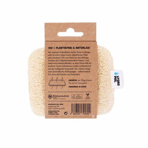 A almofada de sabonete Luffa oferece a cada sabonete, ou champô sólido, um novo local e sem plástico para secar. A saboneteira perfeita, 100% biodegradável!