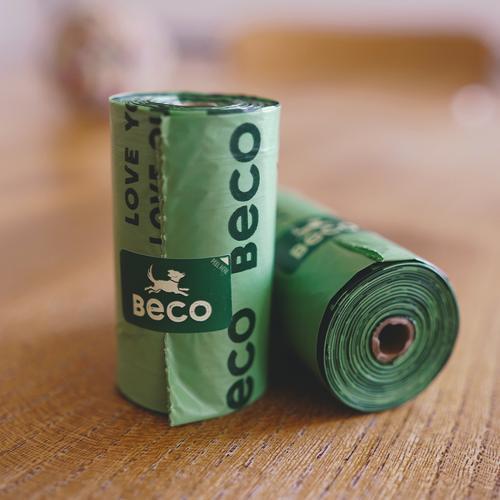 Os sacos degradáveispara dejetos da Beco Bags permitem apanhar as necessidades do seu animal de estimação de forma ecológica.
