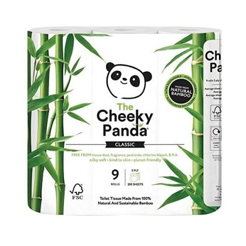 Cada pacote contém 9 rolos de papel higiénico de 200 folhas de papel higiénico de bambu, com folha tripla, super macias.