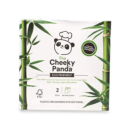 Rolos para cozinha em bambu super absorventes. Embalagem sem plástico, feita de papel reciclado. Casa embalagem tem 2 rolos.