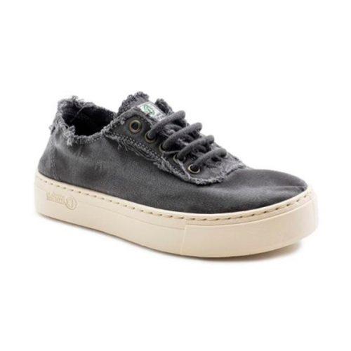 """Estes """"Sneaker Desportivo"""", cor gris, foram fabricados em Espanha e com materiais ecológicos que respeitam o meio ambiente. Calçado Vegan."""