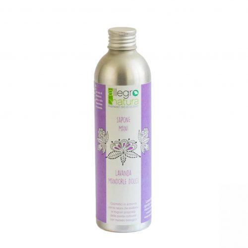 Sabonete para mãos especialmente concebido para pele sensível, com óleo de amêndoas doces e óleo essencial de lavanda.