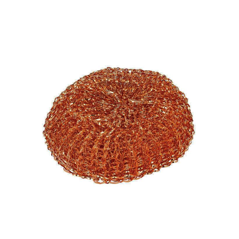 Esponja reutilizável de cobre ideal para retirar os resíduos a loiça mais difícil. Cada embalagem contém 2 esponjas.