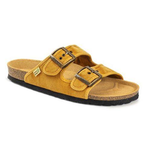 As bio sandálias tropic cuero são sustentáveis e super confortáveis! Feitos com algodão orgânico e borracha reciclada e cortiça.