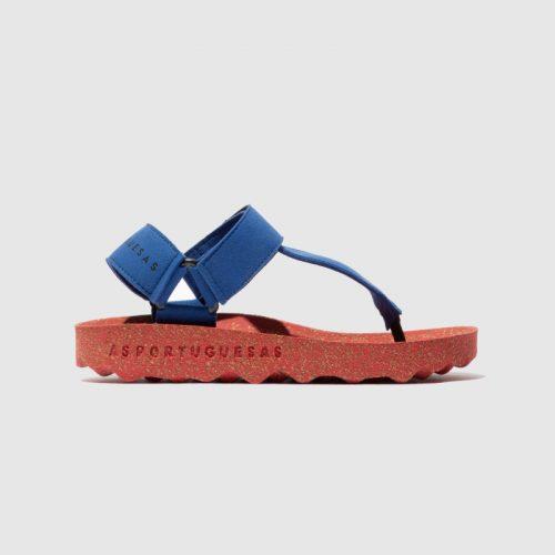 Sandálias fizz, em azul, com sola em cortiça, em microsuede e forro em microfibra. São sandálias versáteis e sustentáveis!