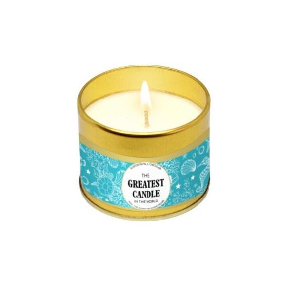 A vela que salva água além de ser uma vela ecológica é também decorativa e perfumada com fantásticas fragrâncias naturais.