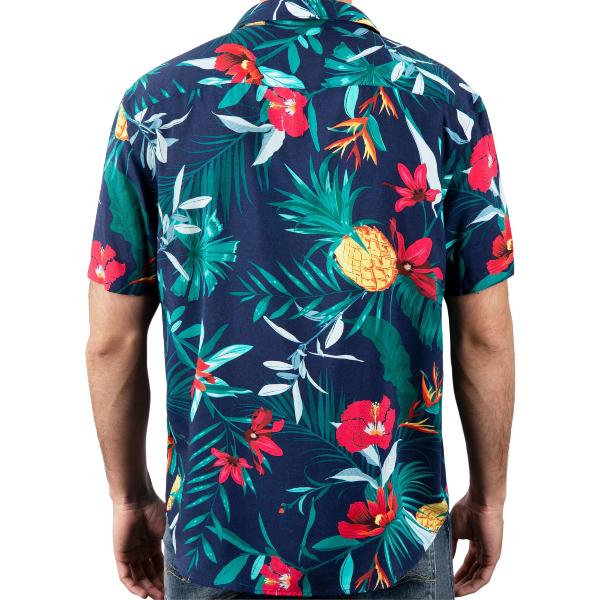 Camisa Pinya Florada 100% viscose proveniente de bambu e restos de madeira.Tecido e camisa fabricada no norte de Portugal.