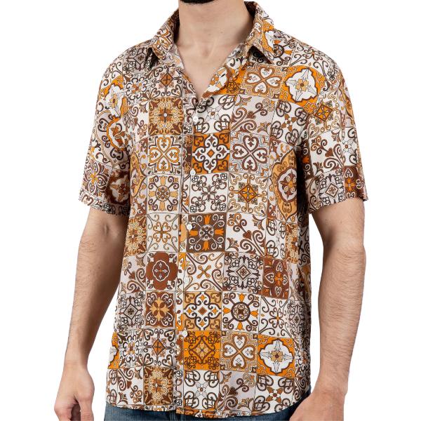 Camisa Portuguese Tiles feita 100% viscose proveniente de bambu e restos de madeira. Tecido e camisa fabricada no norte de Portugal.