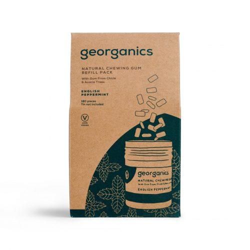 Recarga de 180 pastilhas elásticas feitas com goma natural das árvores Sapodilla e Acácia aromatizadas com menta inglesa e xilitol.